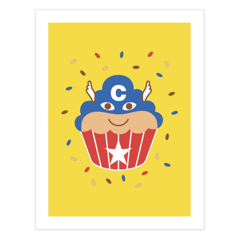 Captain Cake Home Fine Art Print by juliowinck's Artist Shop