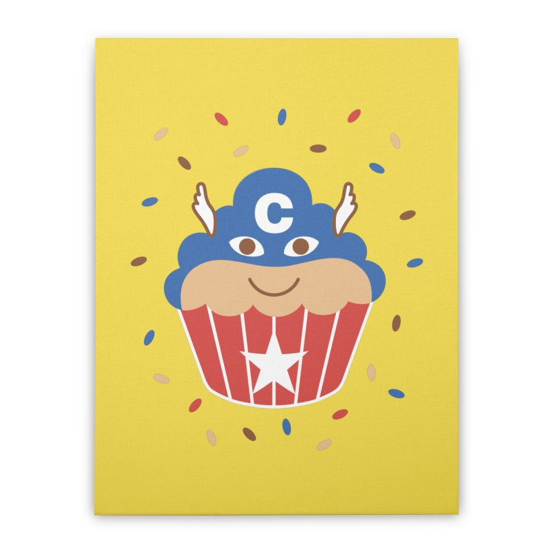 Captain Cake Home Stretched Canvas by juliowinck's Artist Shop