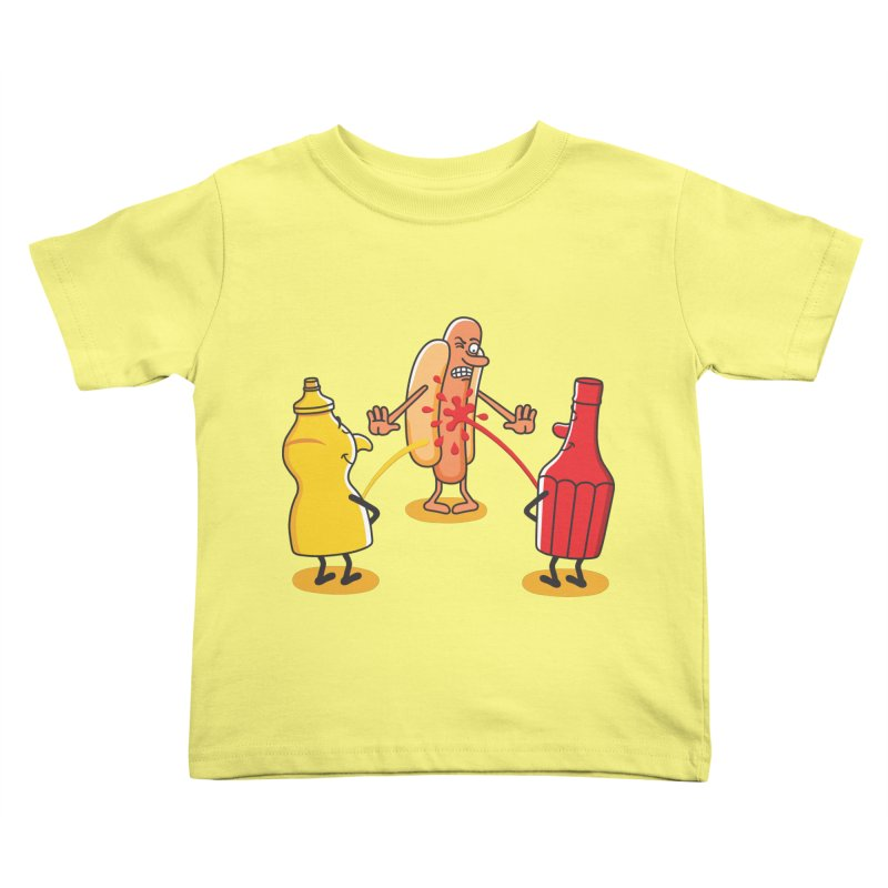 Ketchup Kids Toddler T-Shirt by juliowinck's Artist Shop