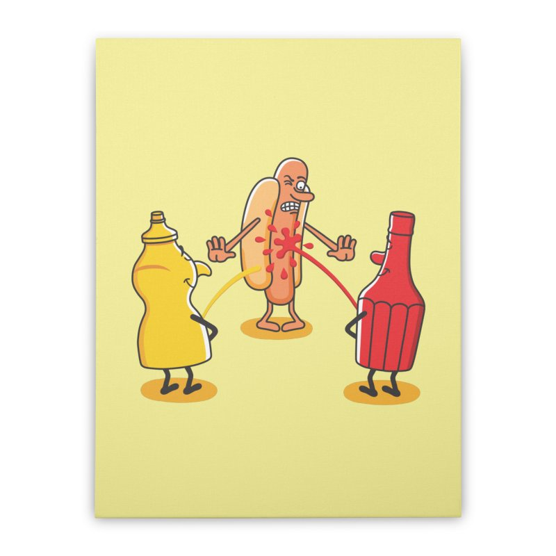 Ketchup Home Stretched Canvas by juliowinck's Artist Shop