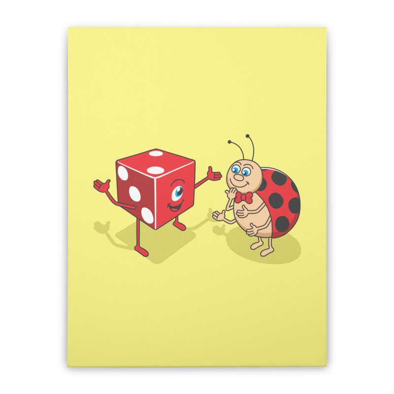 Ladybug Home Stretched Canvas by juliowinck's Artist Shop