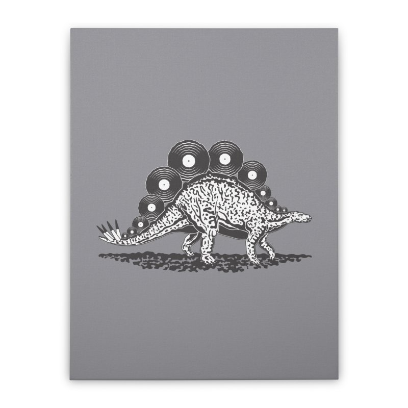 LPsaurus Home Stretched Canvas by juliowinck's Artist Shop
