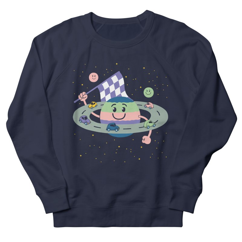 Baby Saturn Men's French Terry Sweatshirt by juliowinck's Artist Shop