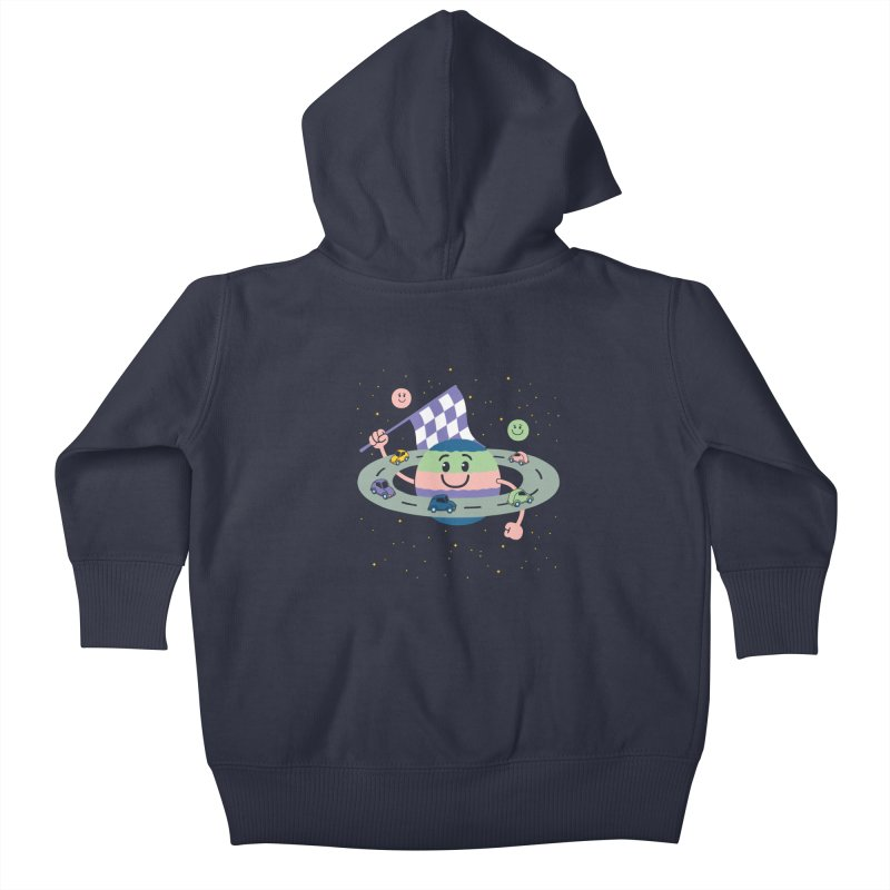 Baby Saturn Kids Baby Zip-Up Hoody by juliowinck's Artist Shop
