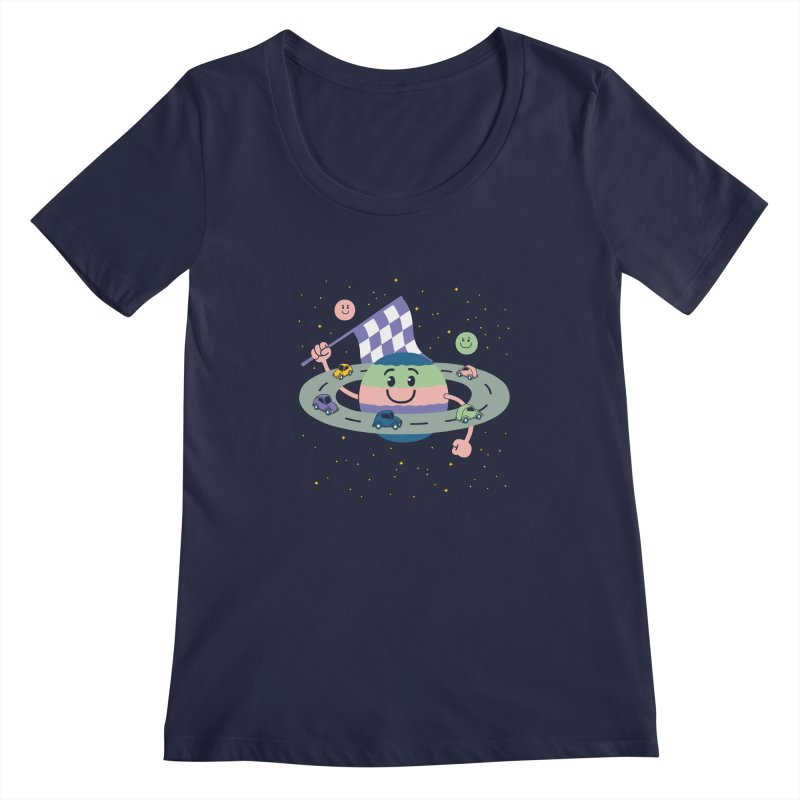 Baby Saturn Women's Scoopneck by juliowinck's Artist Shop