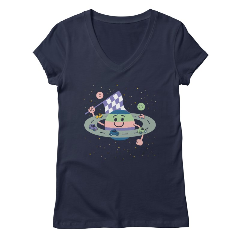 Baby Saturn Women's V-Neck by juliowinck's Artist Shop
