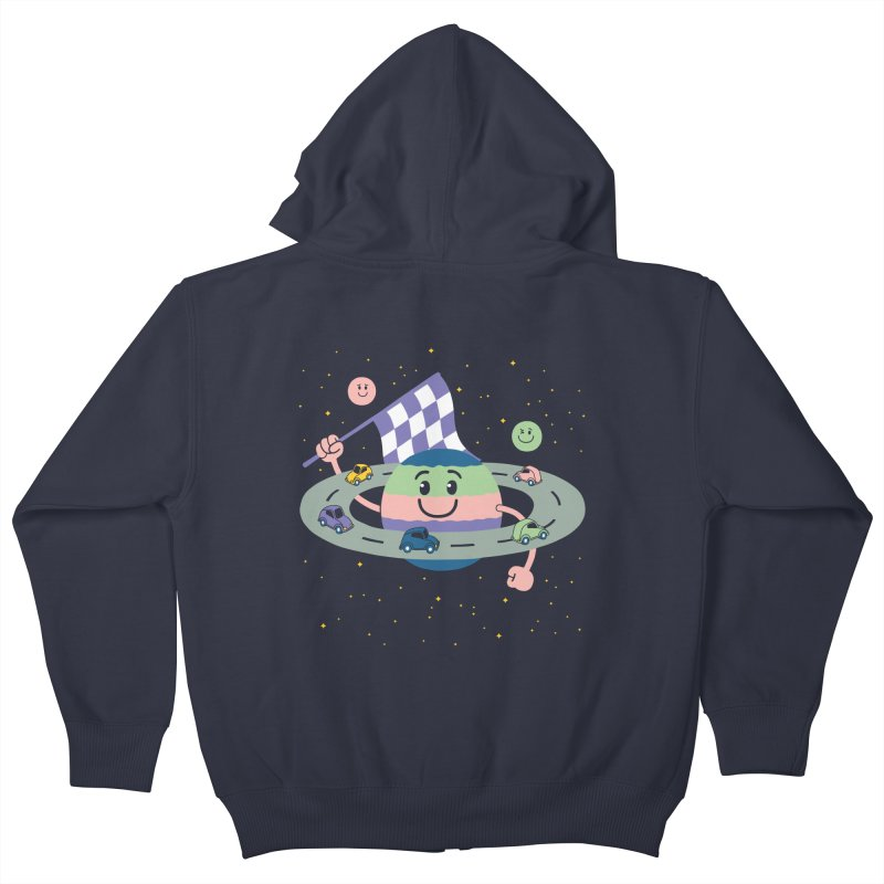 Baby Saturn Kids Zip-Up Hoody by juliowinck's Artist Shop