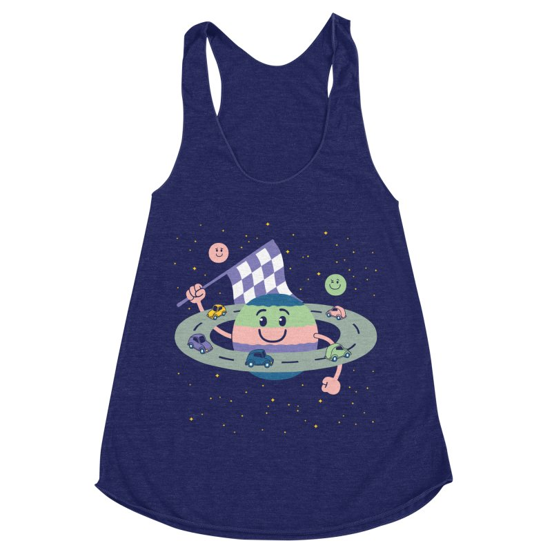 Baby Saturn Women's Racerback Triblend Tank by juliowinck's Artist Shop