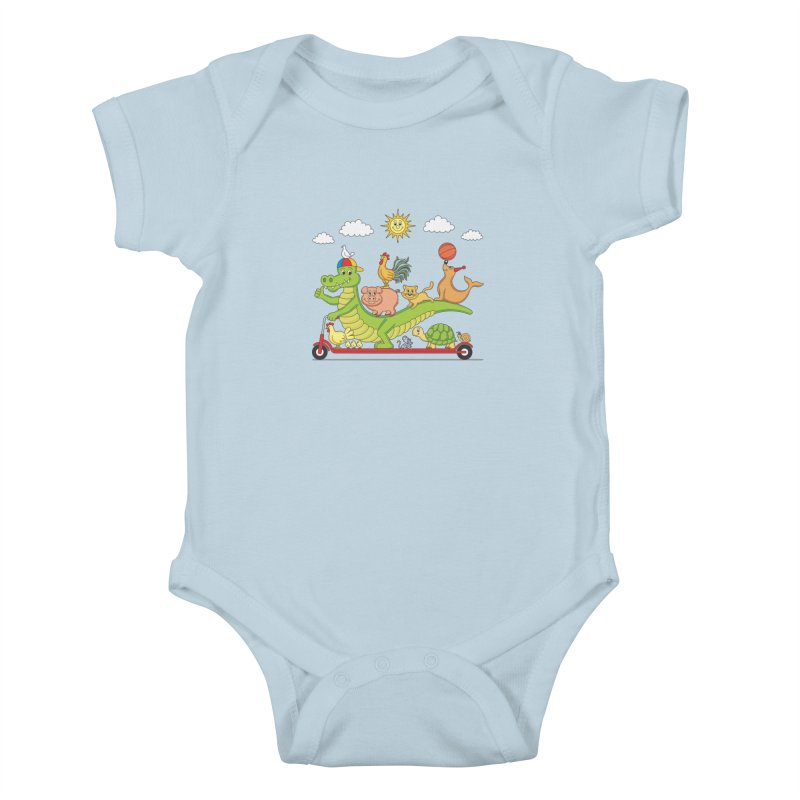 Super Ride Kids Baby Bodysuit by juliowinck's Artist Shop