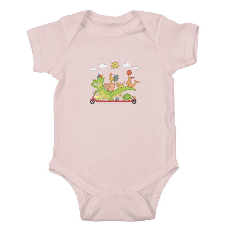 Super Ride Kids Baby Bodysuit by juliowinck's Artist Shop