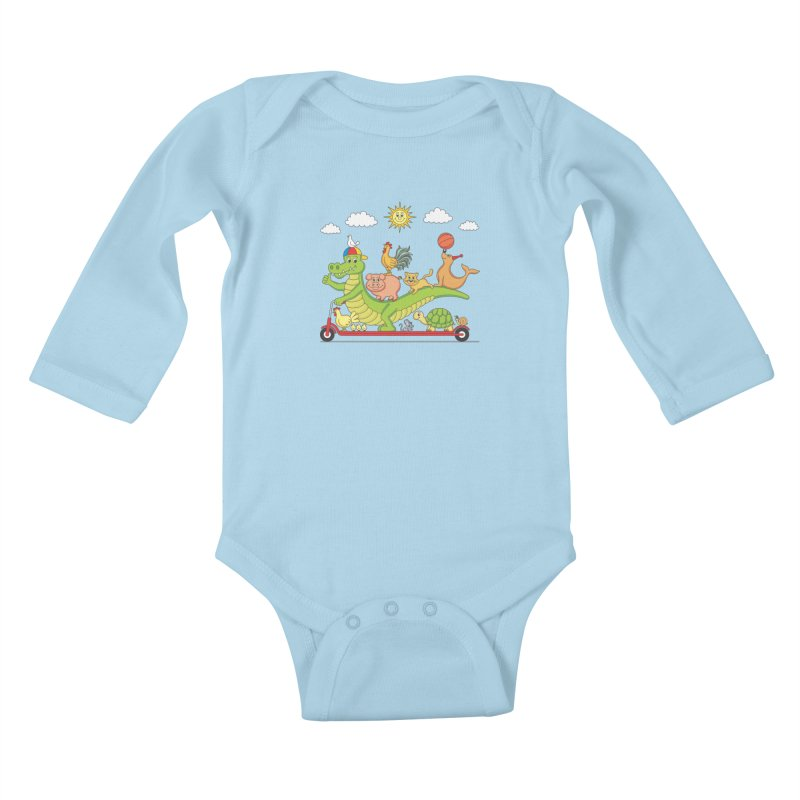 Super Ride Kids Baby Longsleeve Bodysuit by juliowinck's Artist Shop