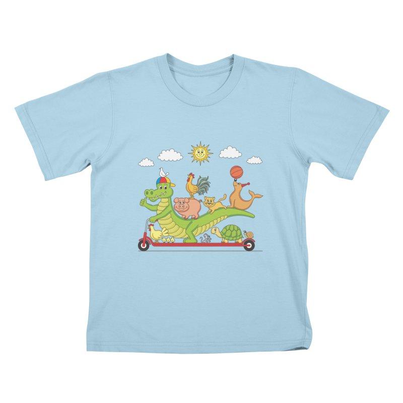 Super Ride Kids T-Shirt by juliowinck's Artist Shop