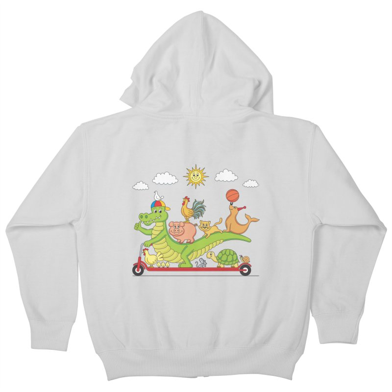 Super Ride Kids Zip-Up Hoody by juliowinck's Artist Shop