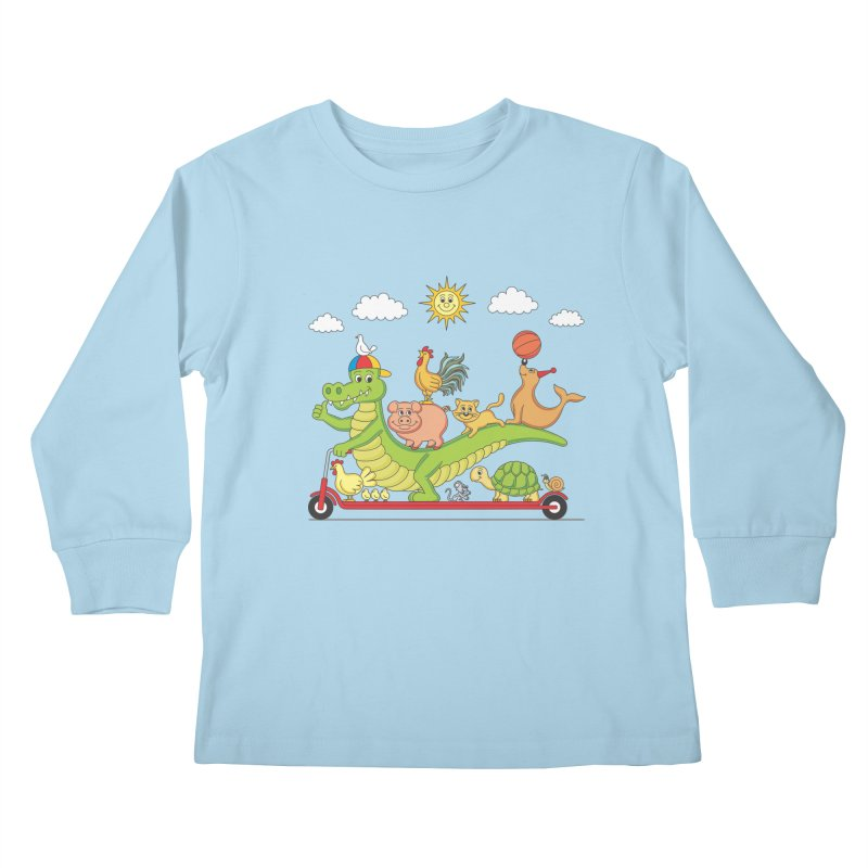 Super Ride Kids Longsleeve T-Shirt by juliowinck's Artist Shop