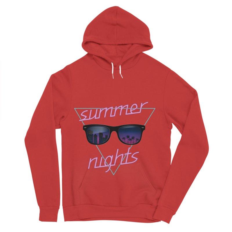 Summer nights Men's Sponge Fleece Pullover Hoody by juliusllopis's Artist Shop