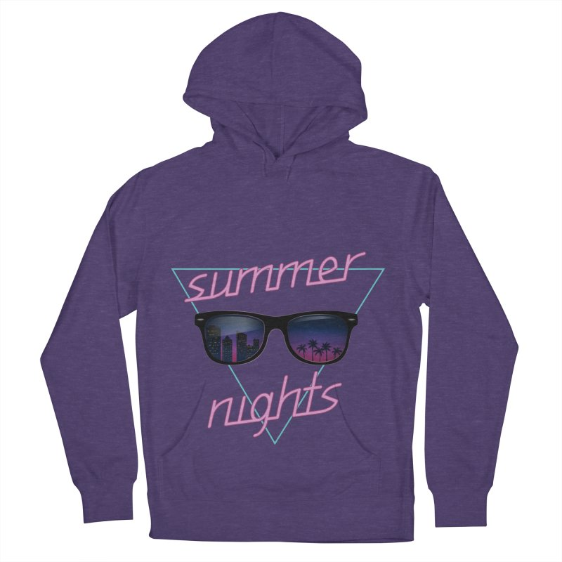 Summer nights Men's French Terry Pullover Hoody by juliusllopis's Artist Shop