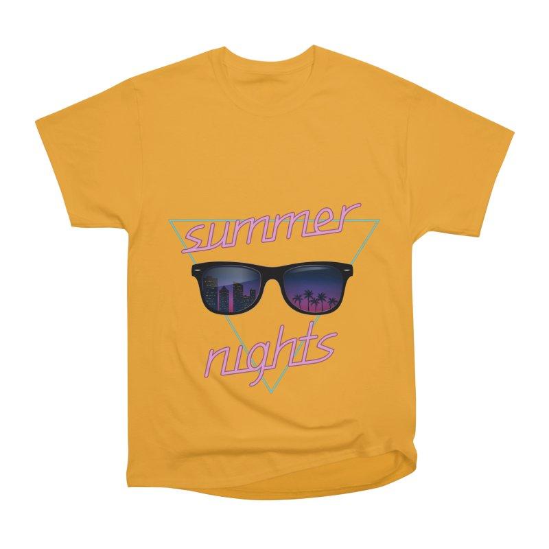 Summer nights Women's Heavyweight Unisex T-Shirt by juliusllopis's Artist Shop