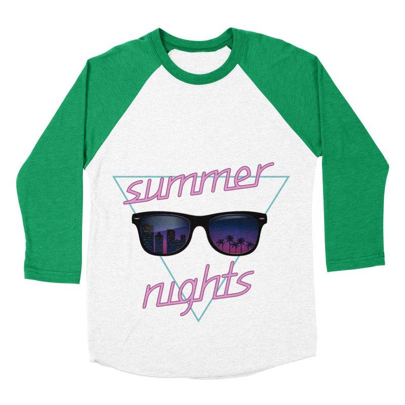 Summer nights Men's Baseball Triblend Longsleeve T-Shirt by juliusllopis's Artist Shop