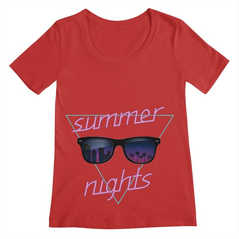 Summer nights Women's Regular Scoop Neck by juliusllopis's Artist Shop