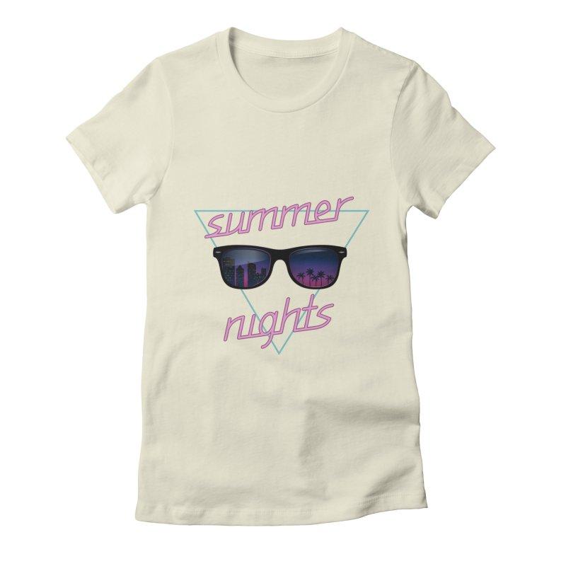 Summer nights Women's Fitted T-Shirt by juliusllopis's Artist Shop