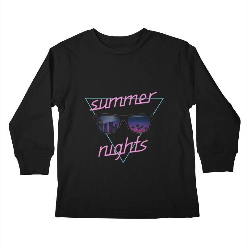 Summer nights Kids Longsleeve T-Shirt by juliusllopis's Artist Shop