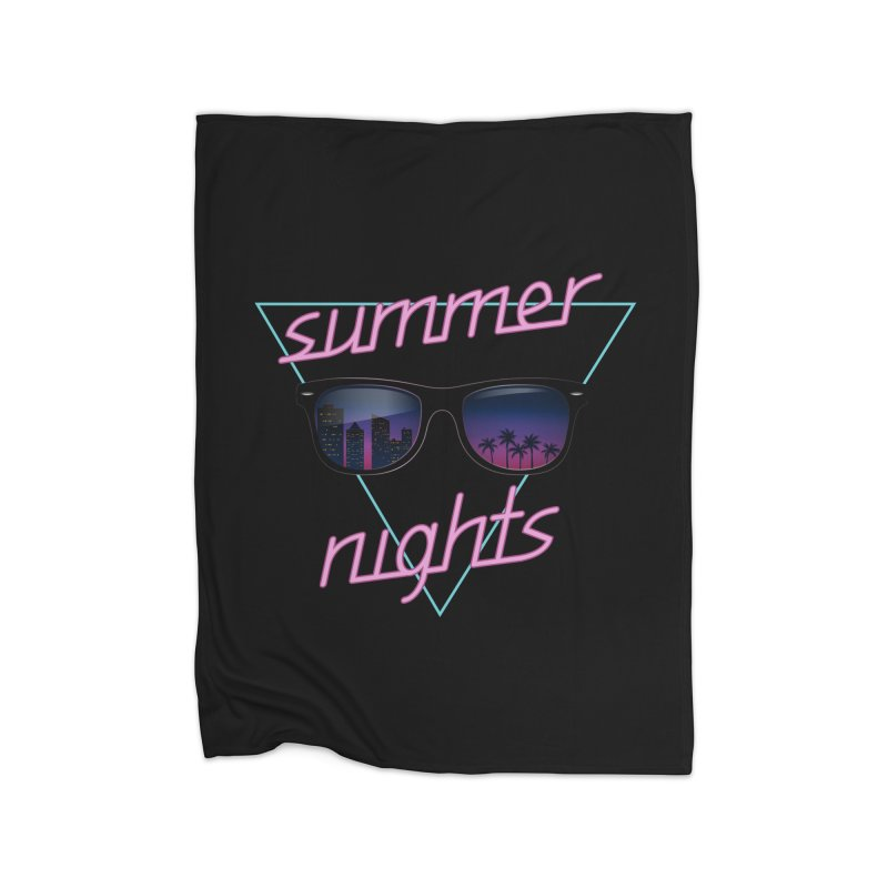Summer nights Home Fleece Blanket Blanket by juliusllopis's Artist Shop