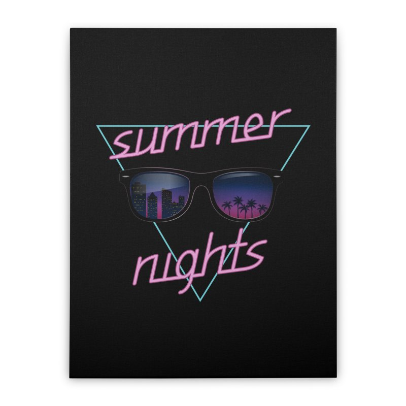 Summer nights Home Stretched Canvas by juliusllopis's Artist Shop