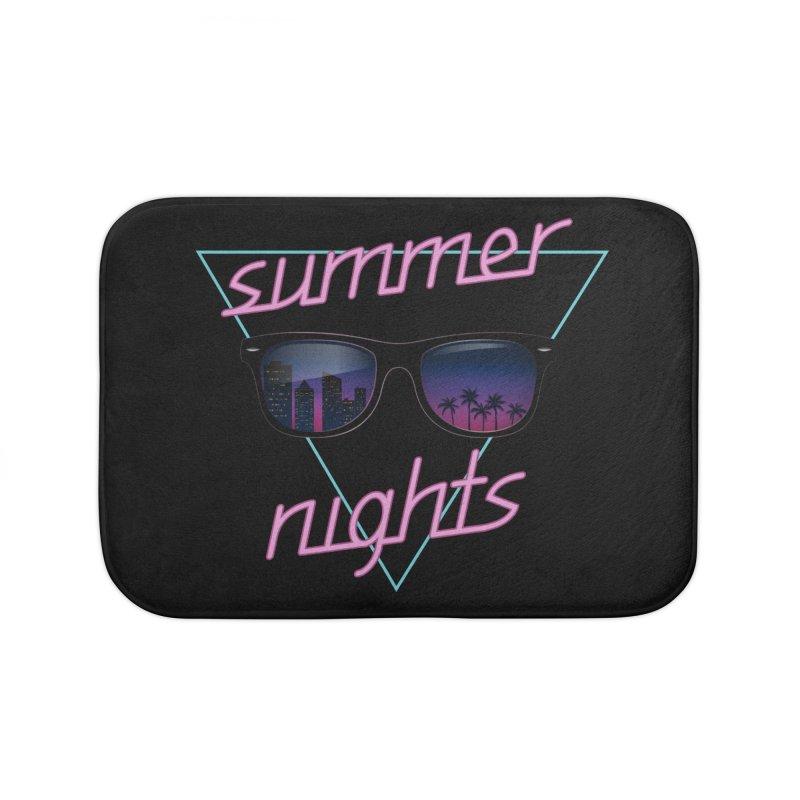 Summer nights Home Bath Mat by juliusllopis's Artist Shop