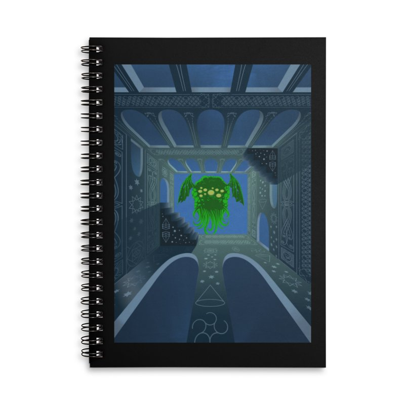 Call of Cthulhu Accessories Lined Spiral Notebook by juliusllopis's Artist Shop