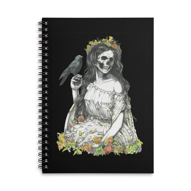 Death of spring Accessories Lined Spiral Notebook by juliusllopis's Artist Shop