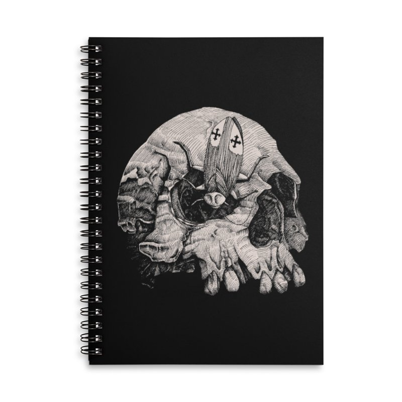 Cockroach pope Accessories Lined Spiral Notebook by juliusllopis's Artist Shop