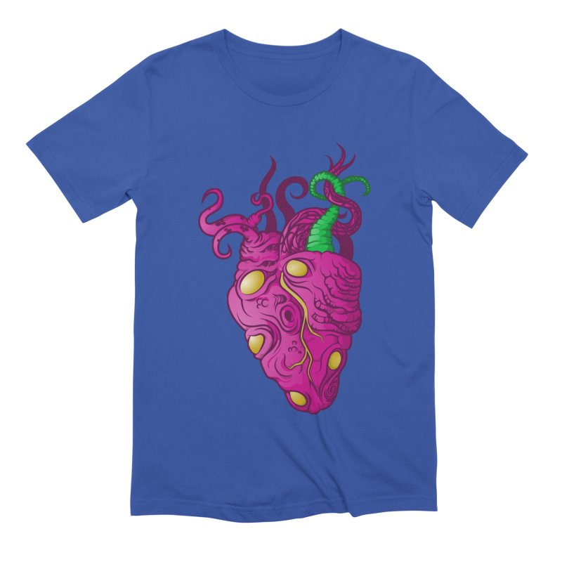 Cthulhu heart Men's Extra Soft T-Shirt by juliusllopis's Artist Shop