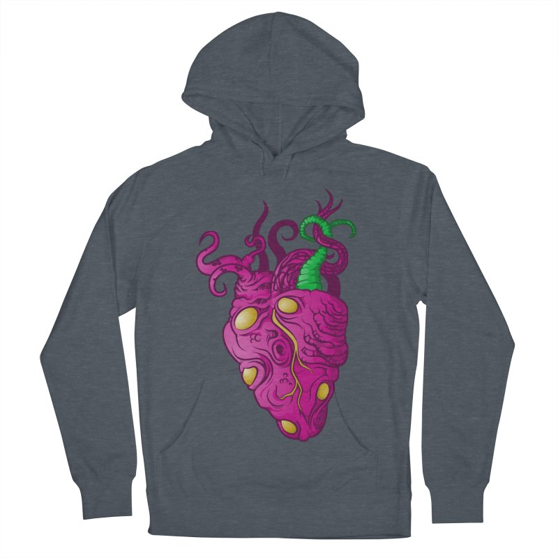 Cthulhu heart Women's French Terry Pullover Hoody by juliusllopis's Artist Shop