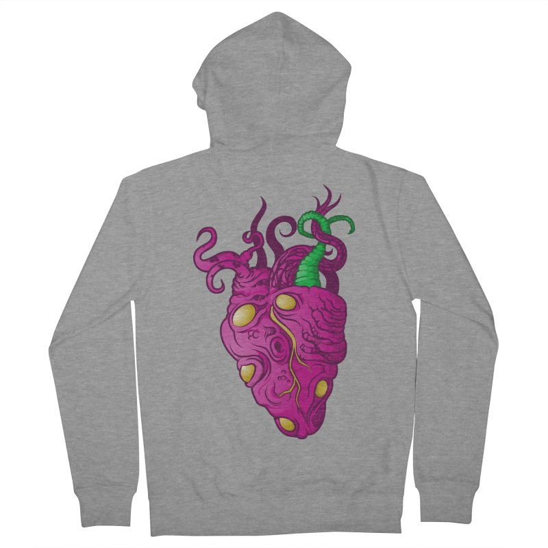 Cthulhu heart Women's French Terry Zip-Up Hoody by juliusllopis's Artist Shop