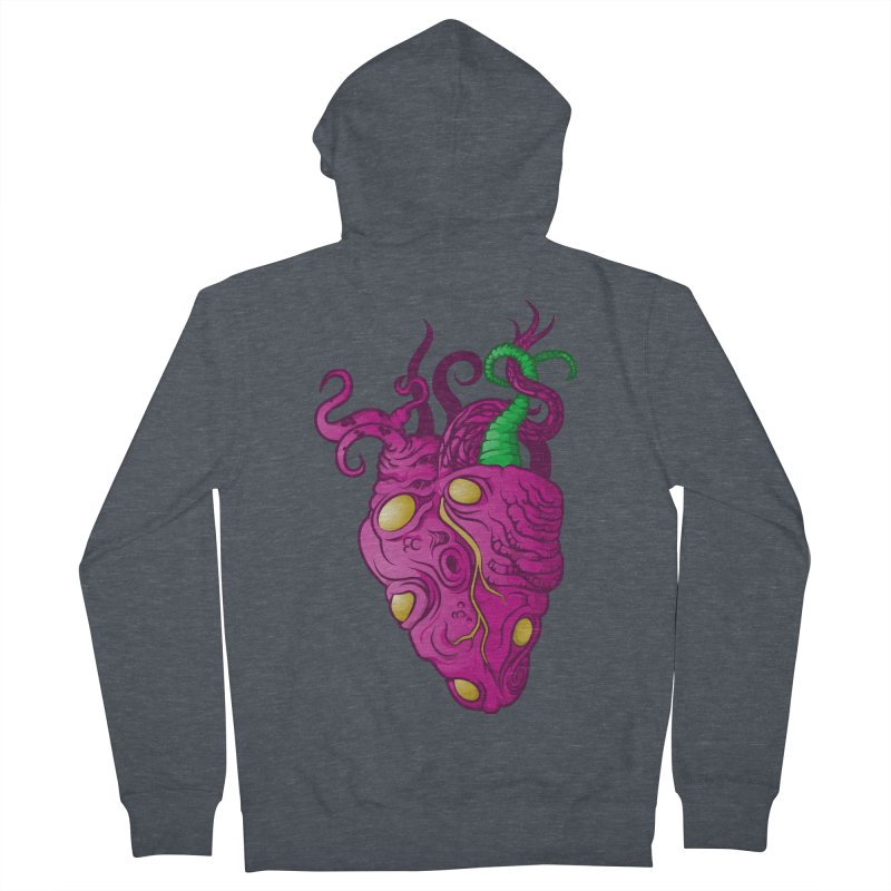 Cthulhu heart Men's French Terry Zip-Up Hoody by juliusllopis's Artist Shop