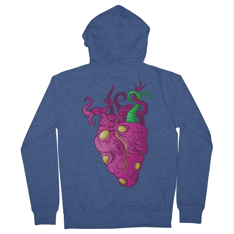 Cthulhu heart Men's French Terry Zip-Up Hoody by juliusllopis's Artist Shop