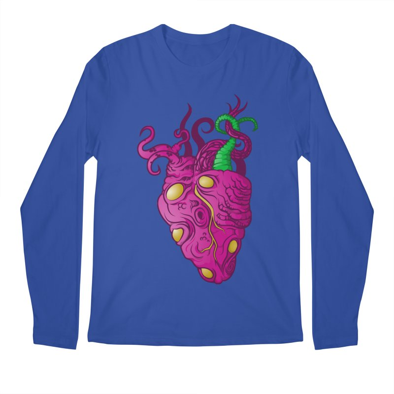 Cthulhu heart Men's Regular Longsleeve T-Shirt by juliusllopis's Artist Shop