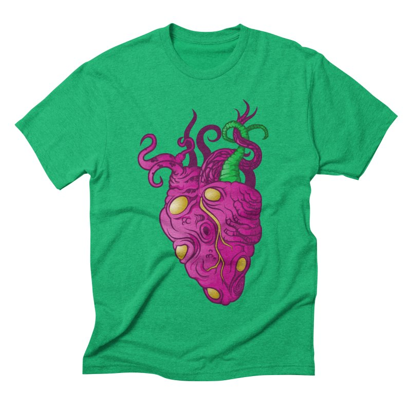 Cthulhu heart Men's Triblend T-Shirt by juliusllopis's Artist Shop