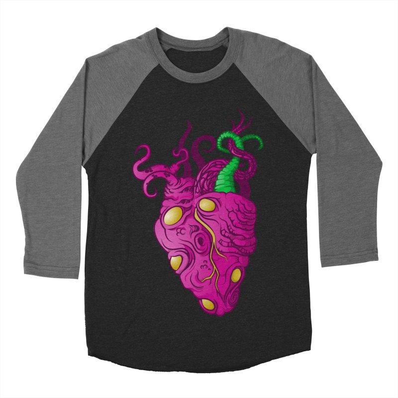 Cthulhu heart Women's Baseball Triblend T-Shirt by juliusllopis's Artist Shop