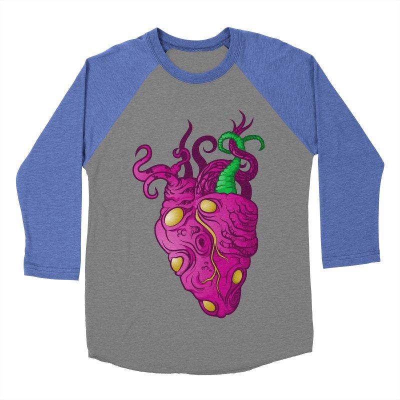 Cthulhu heart Men's Baseball Triblend T-Shirt by juliusllopis's Artist Shop