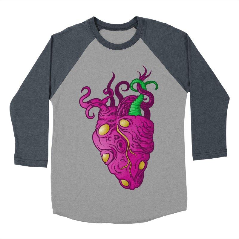 Cthulhu heart Men's Baseball Triblend Longsleeve T-Shirt by juliusllopis's Artist Shop