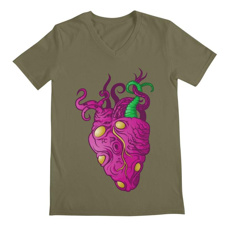 Cthulhu heart Men's V-Neck by juliusllopis's Artist Shop