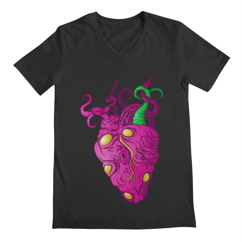 Cthulhu heart Men's Regular V-Neck by juliusllopis's Artist Shop