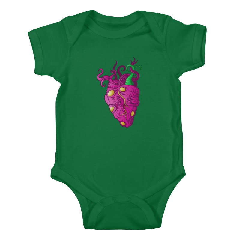 Cthulhu heart Kids Baby Bodysuit by juliusllopis's Artist Shop