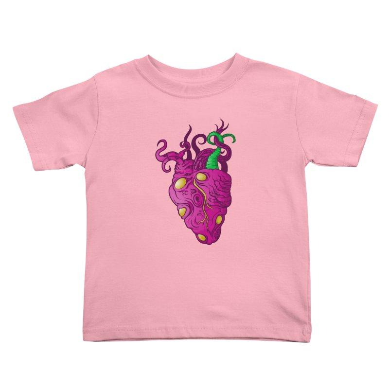 Cthulhu heart Kids Toddler T-Shirt by juliusllopis's Artist Shop