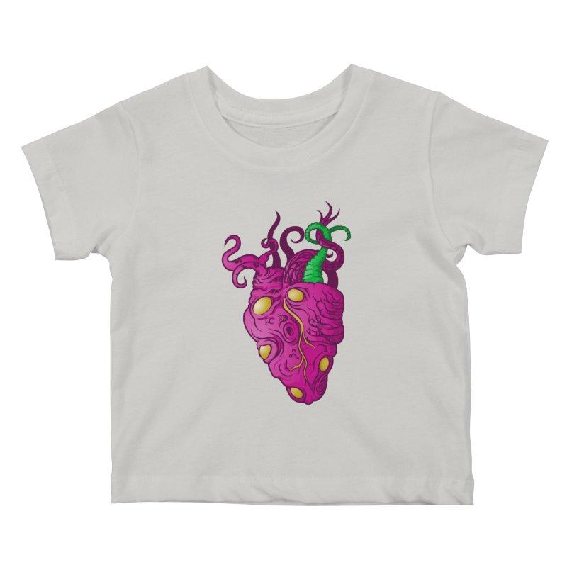 Cthulhu heart Kids Baby T-Shirt by juliusllopis's Artist Shop