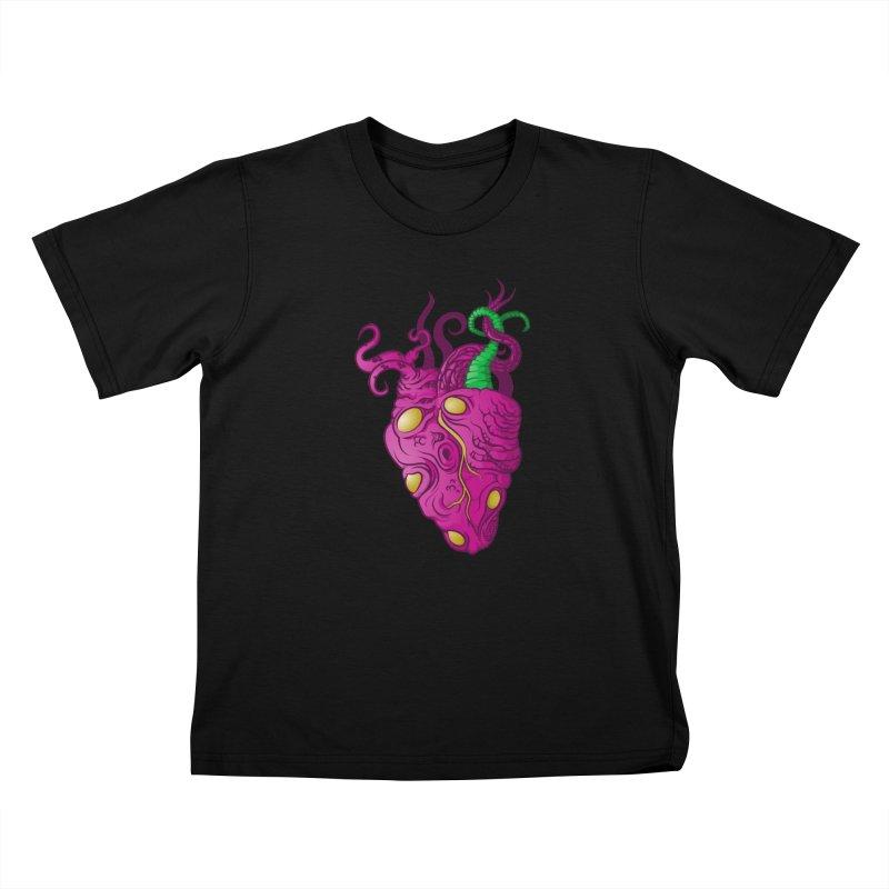 Cthulhu heart Kids T-Shirt by juliusllopis's Artist Shop