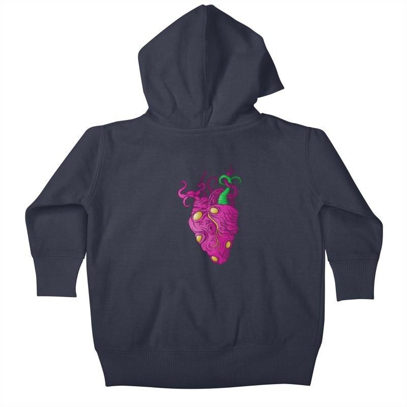 Cthulhu heart Kids Baby Zip-Up Hoody by juliusllopis's Artist Shop