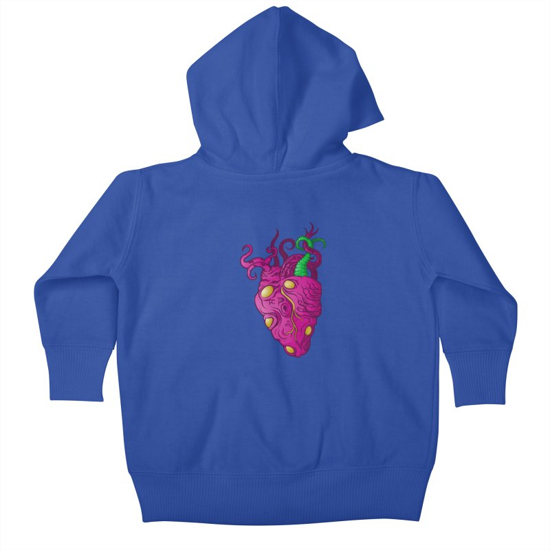Cthulhu heart Kids Baby Zip-Up Hoody by juliusllopis's Artist Shop