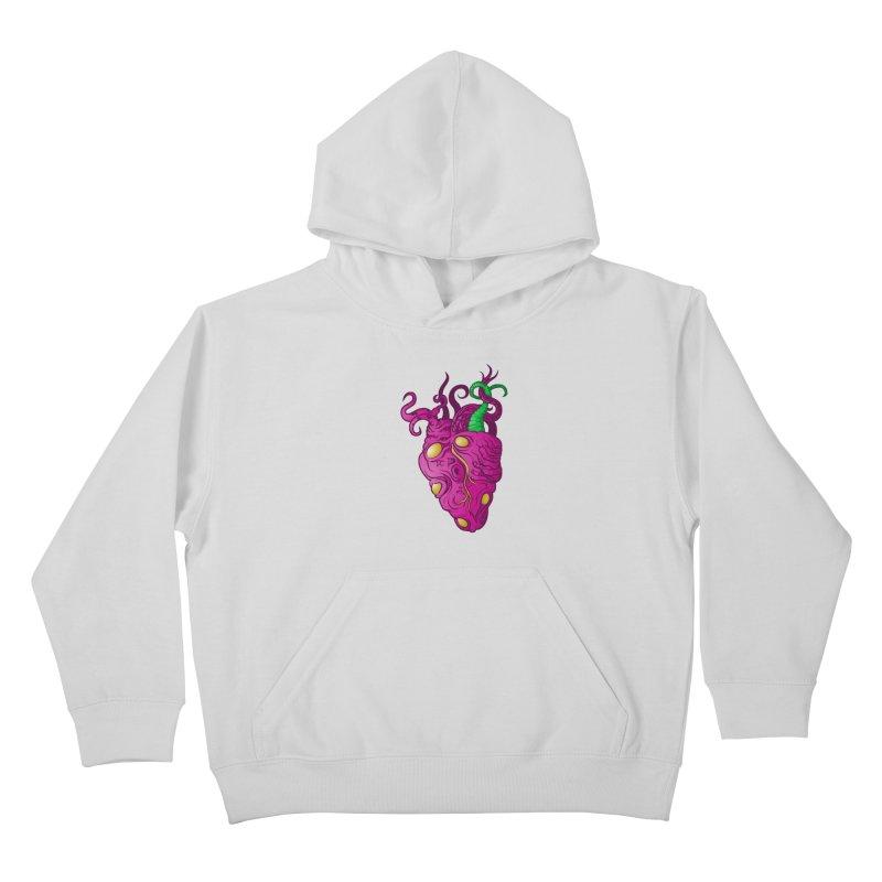 Cthulhu heart Kids Pullover Hoody by juliusllopis's Artist Shop